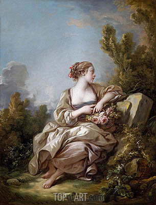 The Gardener, 1761 | Boucher| Painting Reproduction