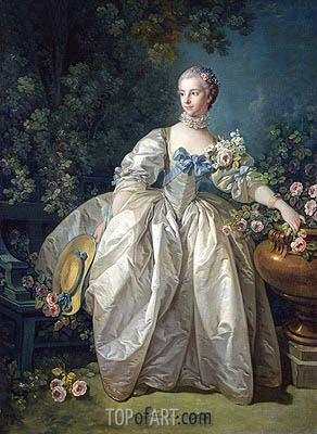 Madame Bergeret, 1746 | Boucher | Painting Reproduction