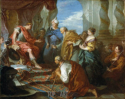 Joseph Presenting His Father and Brothers to the Pharaoh, c.1723 | Boucher| Gemälde Reproduktion