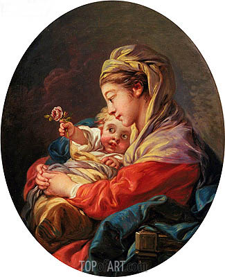 Virgin and Child, c.1765/70 | Boucher | Painting Reproduction