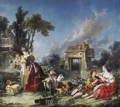 The Fountain of Love, 1748 | Boucher | Painting Reproduction