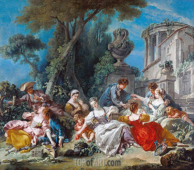The Bird Catchers, 1748 | Boucher | Painting Reproduction
