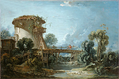 The Dovecote, 1758 | Boucher | Painting Reproduction