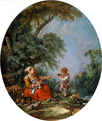 Pastoral Repast, 1769 | Boucher| Painting Reproduction