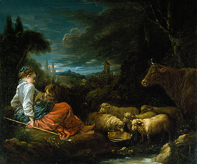 Pastoral, c.1730 | Boucher | Painting Reproduction