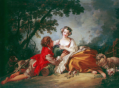 La Marotte (La Musette), 1759 | Boucher | Painting Reproduction