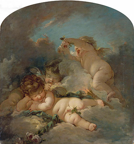 Love's Sleep, undated | Boucher| Painting Reproduction