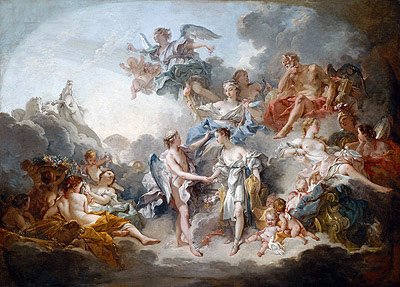 Marriage of Cupid and Psyche, 1744 | Boucher| Gemälde Reproduktion
