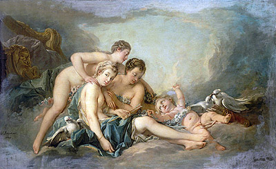 Venus Disarming Cupid, 1749 | Boucher| Painting Reproduction
