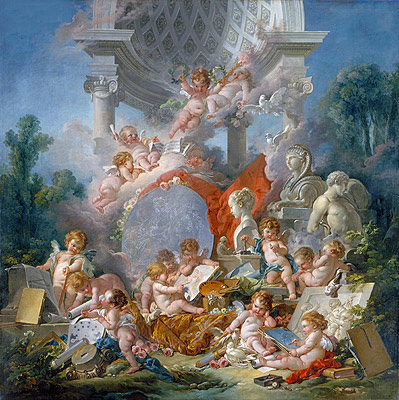 Geniuses of the Arts, 1761 | Boucher | Gemälde Reproduktion