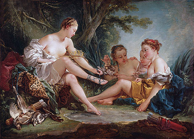 Diana's Return from the Hunt, 1745 | Boucher | Gemälde Reproduktion