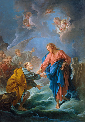 Saint Peter Attempts to Walk on Water, 1766 | Boucher| Painting Reproduction