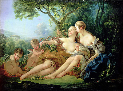 Boucher | Bacchus and Erigone, 1745