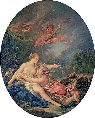 Jupiter and Callisto, 1769 | Boucher | Gemälde Reproduktion