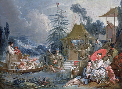 The Chinese Fishermen, c.1742 | Boucher | Painting Reproduction