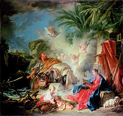 Rest on the Flight in to Egypt, 1757 | Boucher| Painting Reproduction