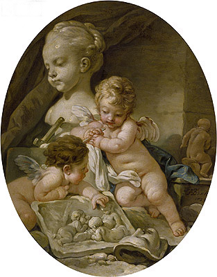 Sculpture, 1758 | Boucher| Painting Reproduction