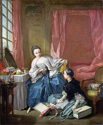 The Modiste, c.1746 | Boucher | Painting Reproduction