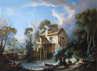 The Mill at Charenton, c.1756 | Boucher | Painting Reproduction