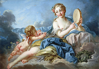 The Muse Terpsichore, undated | Boucher | Painting Reproduction