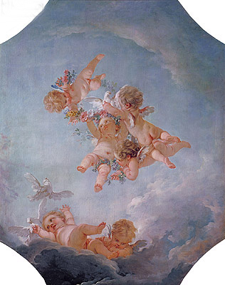 Spring, undated | Boucher| Painting Reproduction