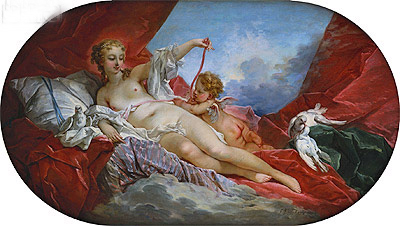 Venus and Cupid, undated | Boucher | Painting Reproduction