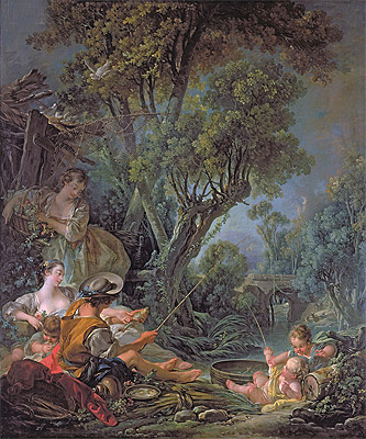 The Angler, 1759 | Boucher | Painting Reproduction
