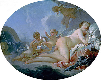 The Sleeping Venus, undated | Boucher | Gemälde Reproduktion