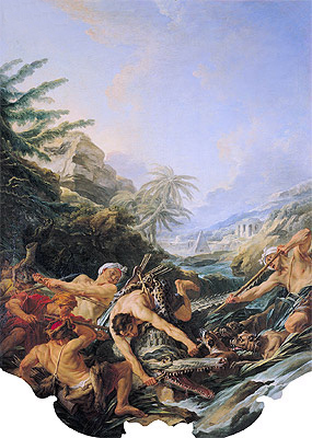Crocodile Hunt, 1739 | Boucher| Painting Reproduction