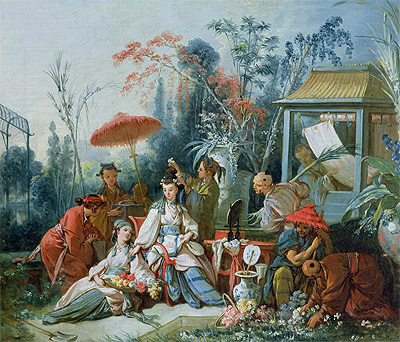 The Chinese Garden, c.1742 | Boucher| Painting Reproduction