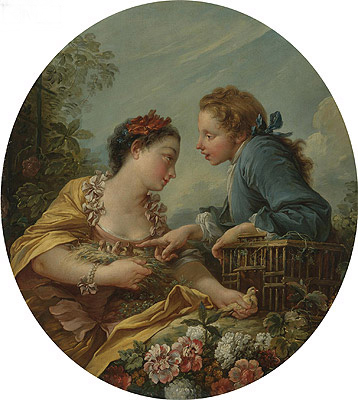 The Bird Nesters, undated | Boucher | Painting Reproduction
