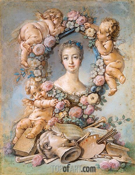 Madame de Pompadour, 1754 | Boucher | Painting Reproduction