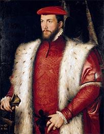 Portrait of Odet de Coligny Cardinal of Chatillon, 1548 by Francois Clouet | Painting Reproduction