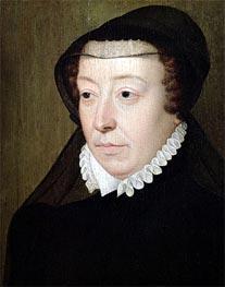 Portrait of Catherine de Medici, undated by Francois Clouet | Painting Reproduction