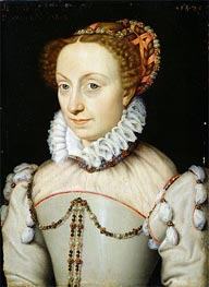 Jeanne III d'Albret Queen of Navarre, 1570 by Francois Clouet | Painting Reproduction