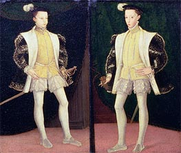 Francis II and Charles IX of France | Francois Clouet | outdated