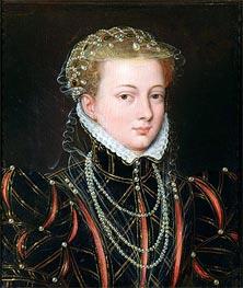 Portrait of Margaret Duchess of Parma, Regent of the Netherlands, c.1559/67 by Francois Clouet | Painting Reproduction