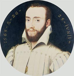 Portrait of a Bearded Gentleman, Aged 26, 1565 by Francois Clouet | Painting Reproduction