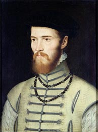 Portrait of a Man, possibly Don John of Austria, c.1570 by Francois Clouet | Painting Reproduction