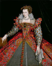 Portrait of Louise de Lorraine, undated by Francois Clouet | Painting Reproduction