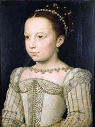 Marguerite de Valois, c.1561 by Francois Clouet | Painting Reproduction