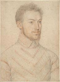 Portrait of Charles Halluin, Monsieur de Pienne, undated by Francois Clouet | Painting Reproduction