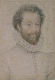 Louis I of Bourbon 1st Prince of Conde, Duke of Enghien, Count of Soissons and Marquis of Conti, undated by Francois Clouet | Painting Reproduction