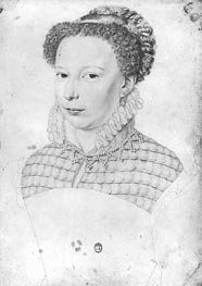 Marguerite of Valois, 1568 by Francois Clouet | Painting Reproduction