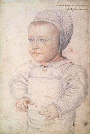 Louis Charles de Bourbon Comte de Marle, 1555 by Francois Clouet | Painting Reproduction