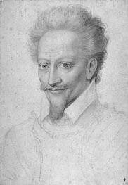 Henri I de Bourbon Prince de Conde, undated by Francois Clouet | Painting Reproduction