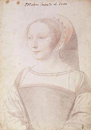 Francoise de Longwy wife of Philippe Chapot, Seigneur de Brion, c.1535 by Francois Clouet | Painting Reproduction