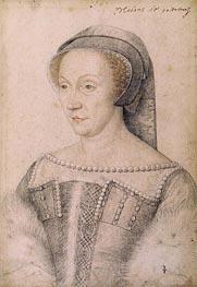 Diane de Poitiers Duchess of Valentinois, undated by Francois Clouet | Painting Reproduction