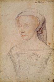 Diane de Poitiers Duchess of Valentinois, c.1555 by Francois Clouet | Painting Reproduction