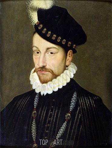 Francois Clouet | Portrait of Charles IX, c.1572/73